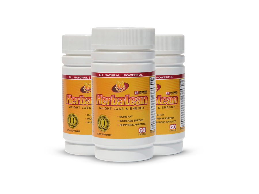 Herbalean herbal weight loss supplement complex 3 bottle
