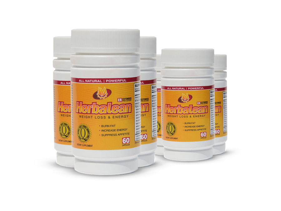 Herbalean herbal weight loss supplement complex 6 bottle