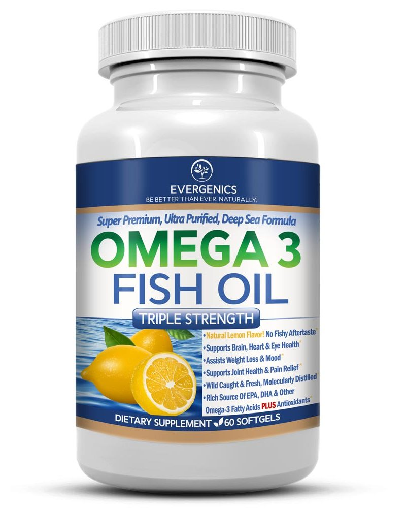 Evergenics super premium omega 3 fish oil great for for Best fish for weight loss