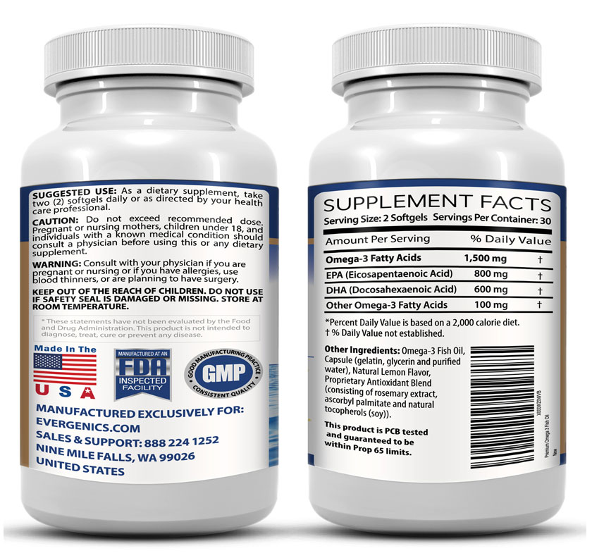 Evergenics super premium omega 3 fish oil great for for Fish oil weight loss