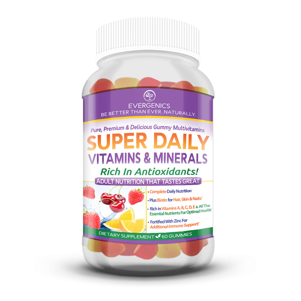 Super Daily Delicious Multivitamin Gummy Adult Formula Supports Metabolism Energy Hair Skin Nails Total Health