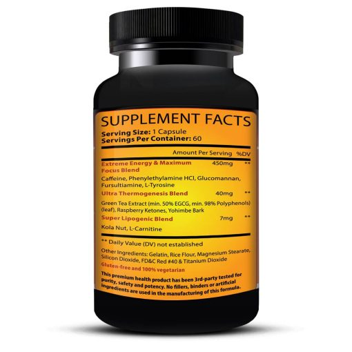 Helioburn Supplement Facts Bottle