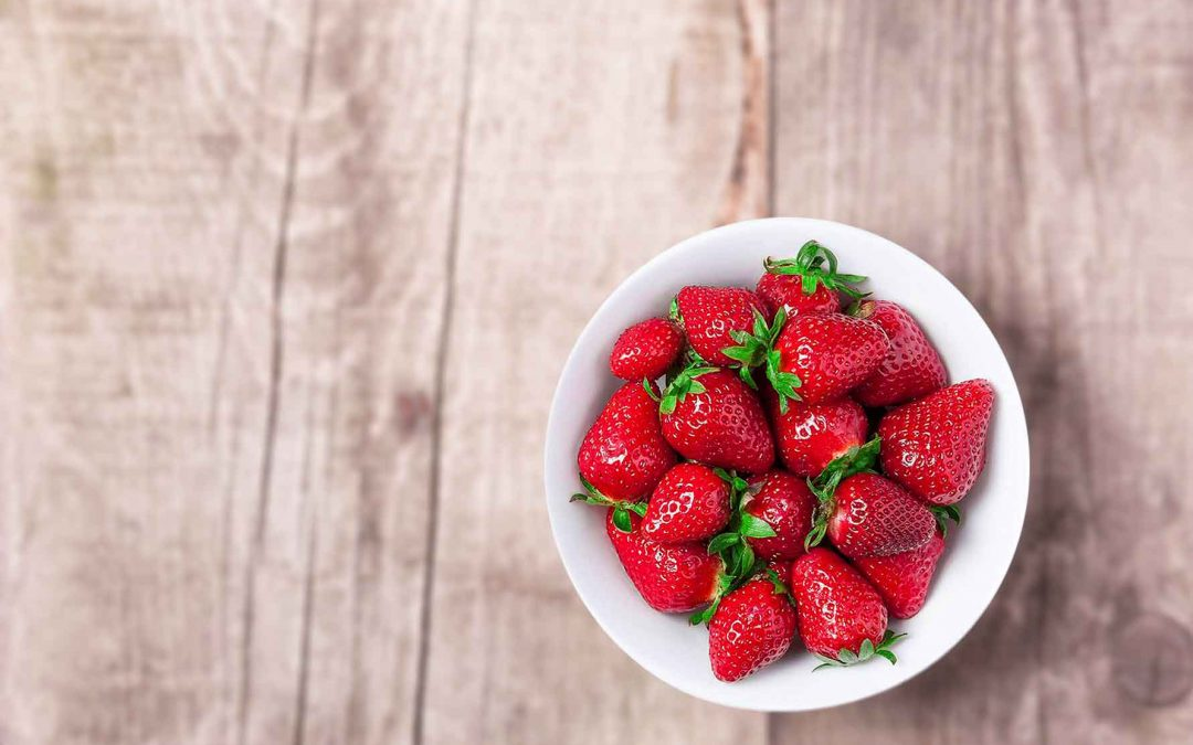 Delicious and healthy strawberries