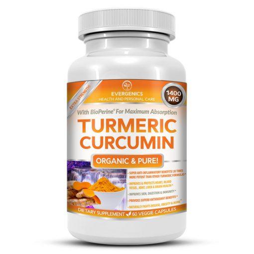 Organic Turmeric Curcumin Bottle