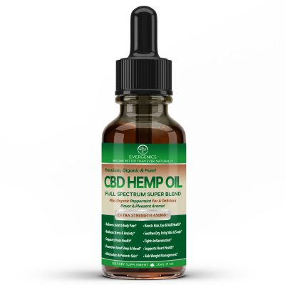 Evergenics Organic CBD Hemp Oil with Cannabidiol