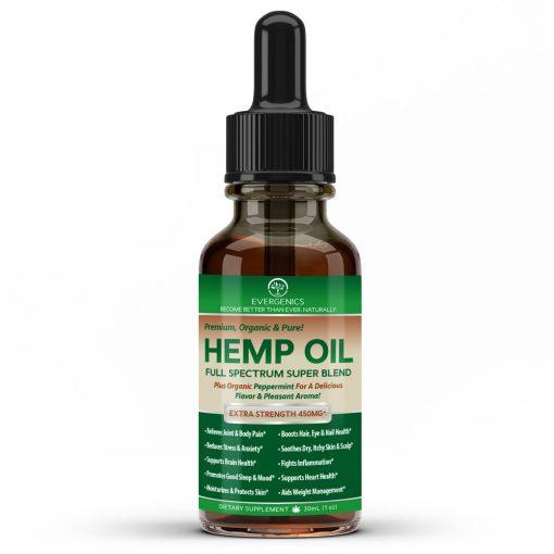 Evergenics Organic Hemp Oil Bottle
