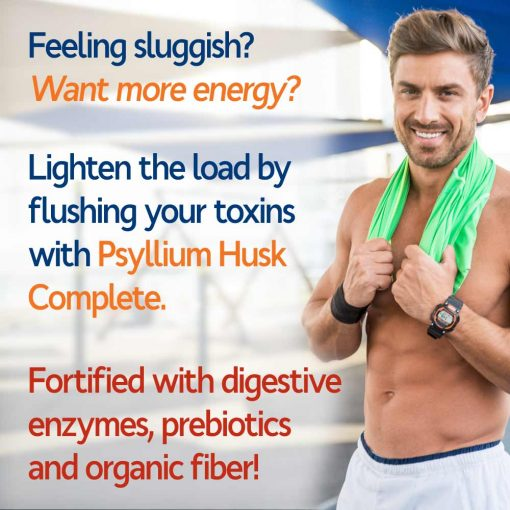 Man enjoying more energy with Psyllium Husk Complete!